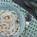 Refreshing Turnip and Dill Salad - Spiralized turnip and the sweet aroma of fresh dill make for a refreshing salad. Easy & Quick with under 5 ingredients! Paleo | GAPS | Primal | AIP