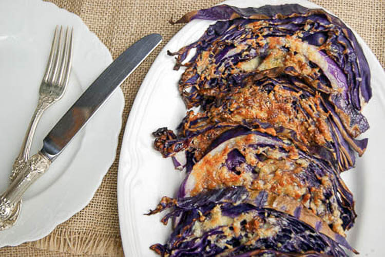 Parmesan and Garlic Cabbage Steaks