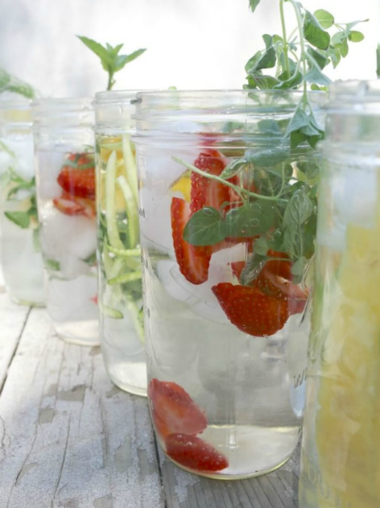 12 Detoxifying Infused Water Recipes - stay hydrated and refreshed with these common add-ins to your water. Spruce up your water and add more nutrition to your refreshing drink.