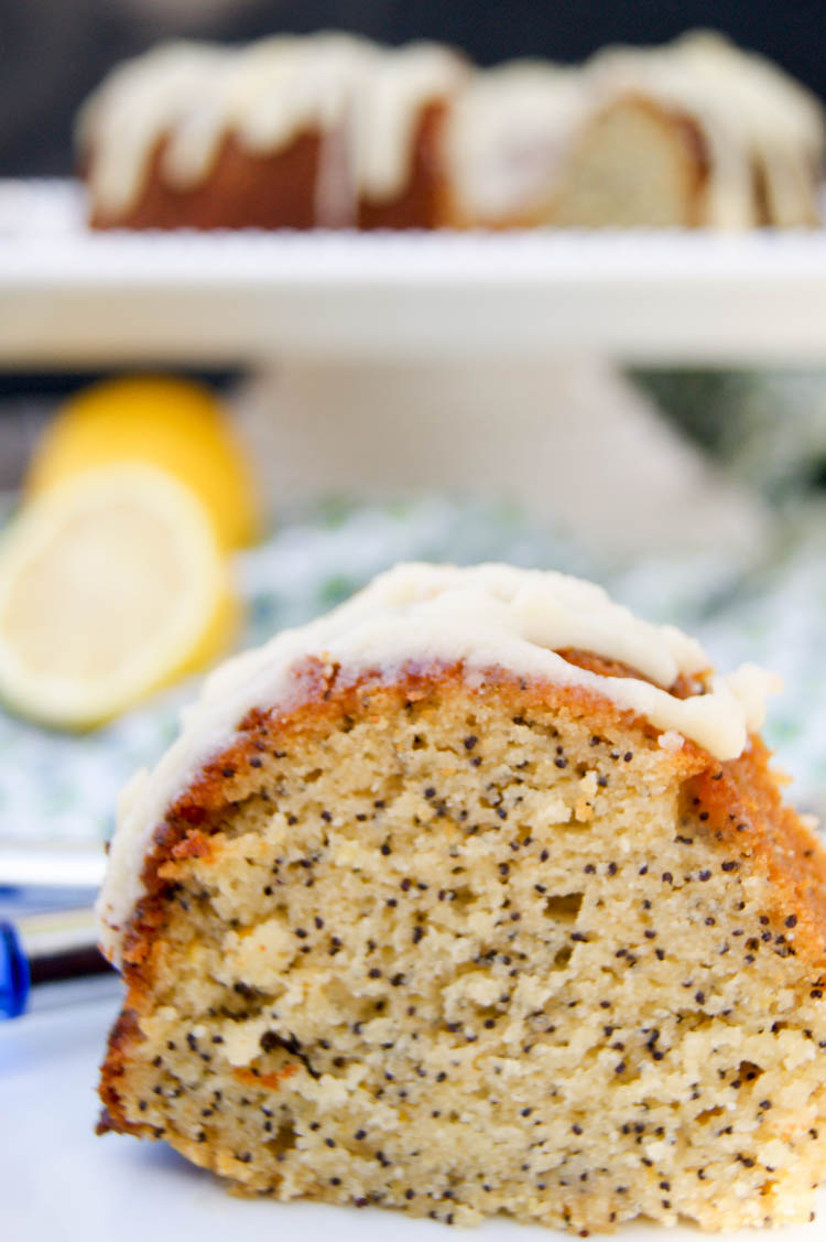 Lemon Poppy Seed Blueberry Bundt Cake