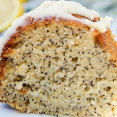 Lemon Poppy Seed Bundt Cake (Gluten Free)