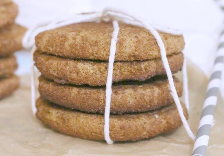 Grain Free Snickerdoodles - simple recipe | 8 ingredients | paleo friendly
