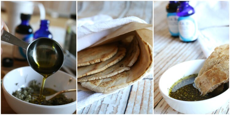 Gluten Free Flatbread with Herb & Garlic Dipping Oil - grain free | healthy | real food