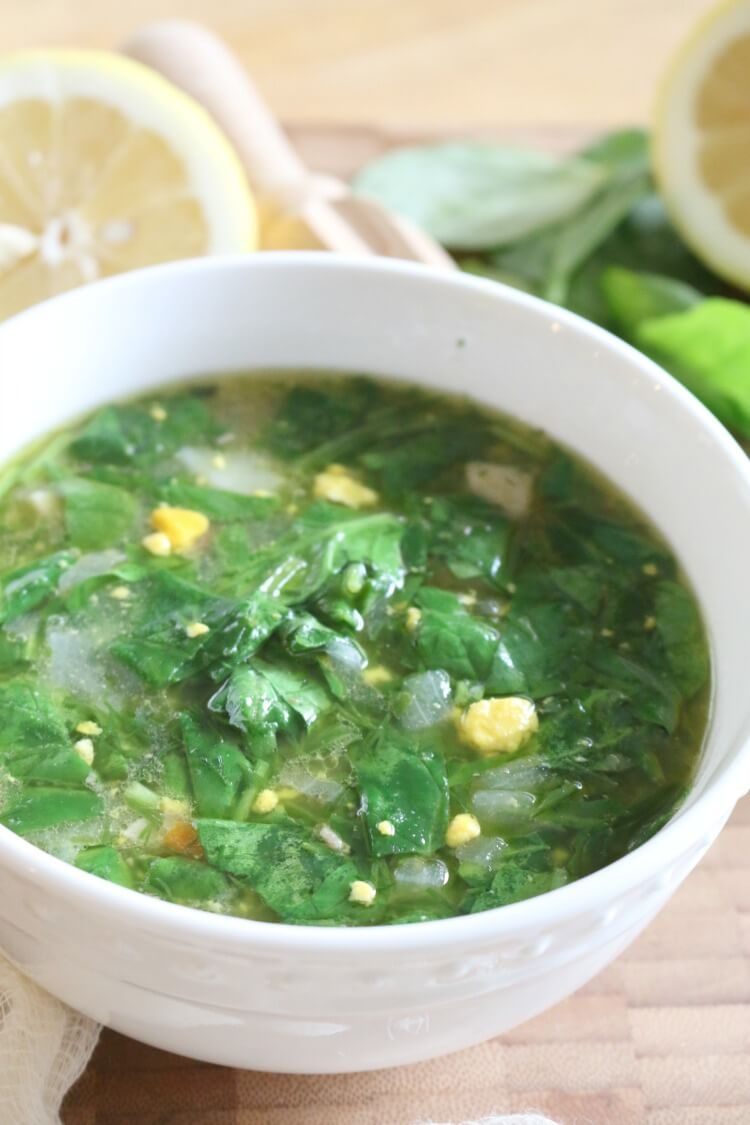 Potato and Sorrel Soup (or use spinach) - high in protein and full of flavor, this 30 minute soup is just as nutritious as it is pretty.