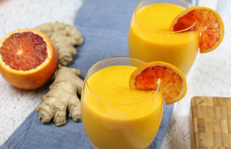 Immune Boosting Citrus Ginger Smoothie