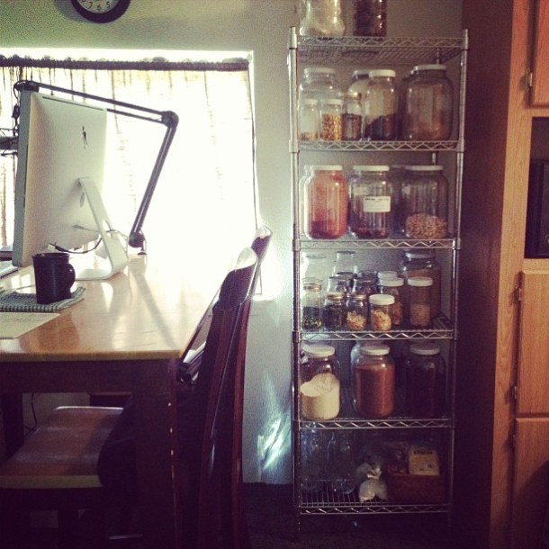 using glass jars for food storage