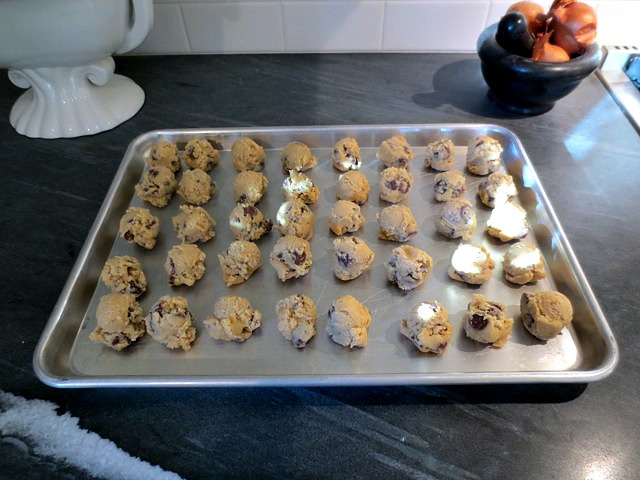 Chocolate Chip cookies for the freezer