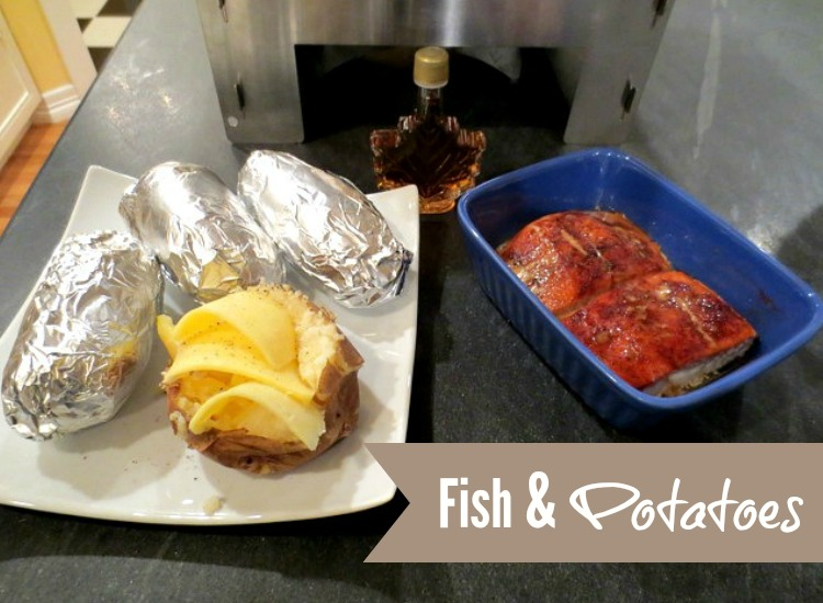 Salmon and Potato Dinner using the HERC Oven