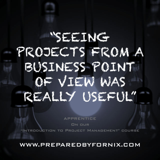 Seeing projects from a business point of view was really useful