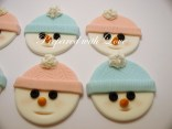 Flat Snowmen Faces Toppers