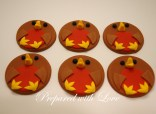 Flat Christmas Robin Toppers