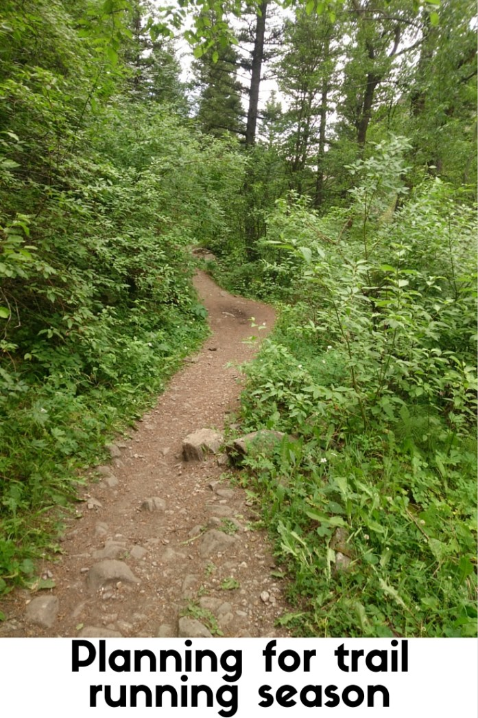 Setting trail running goals and making a plan for the summer trail running season. 25K training plan that incorporates hiking.