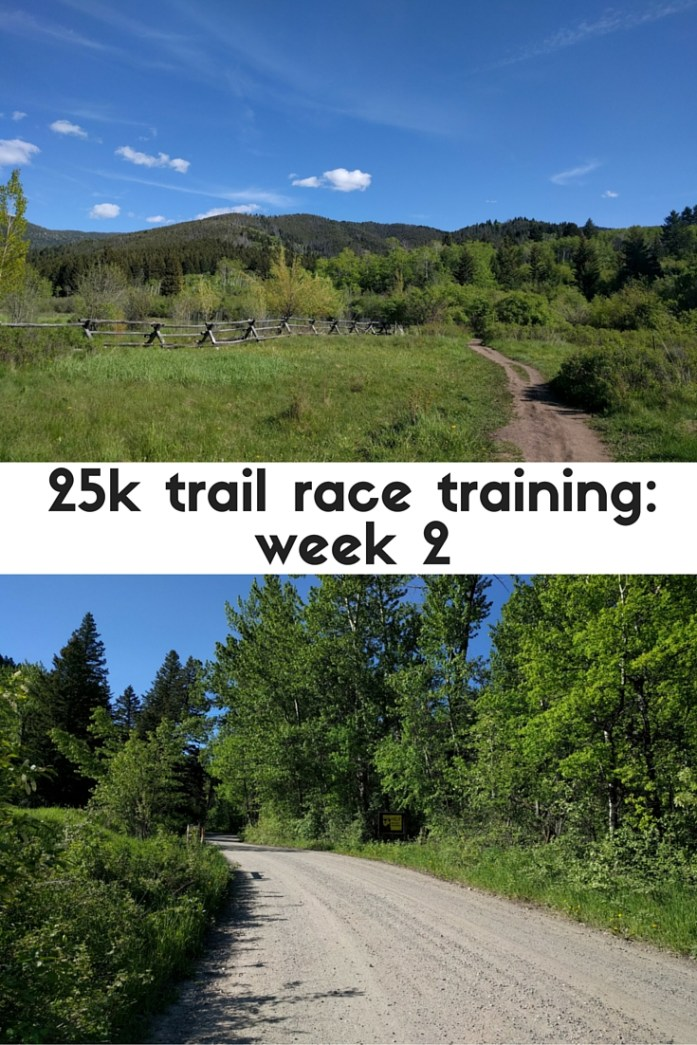 Week two of 25k training for a trail race