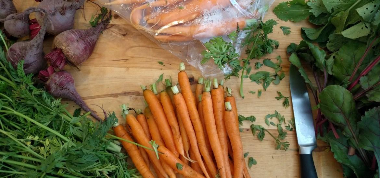 CSA share veggie prep