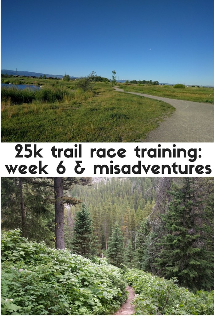 25k trail race training: a week of not so much training and trail misadventures