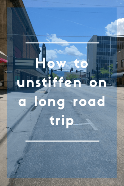 How to unstiffen when you're on a long drive