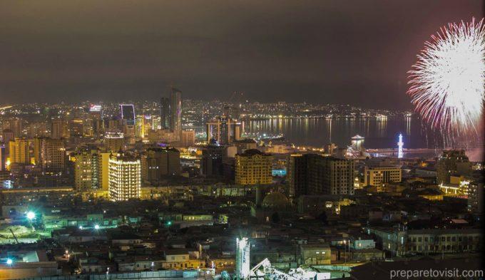Fireworks Baku-New Year 2018