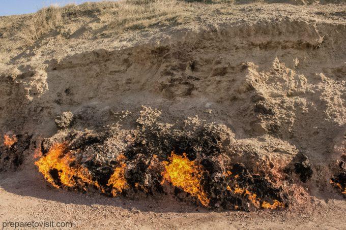 Yanar Dag (Burning Mountain), Baku, Azerbaijan
