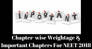 Chapter-wise Weightage and Important Chapters For NEET 2018