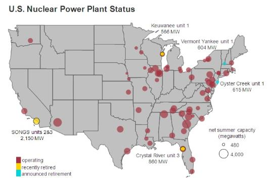 nuclear reactor map