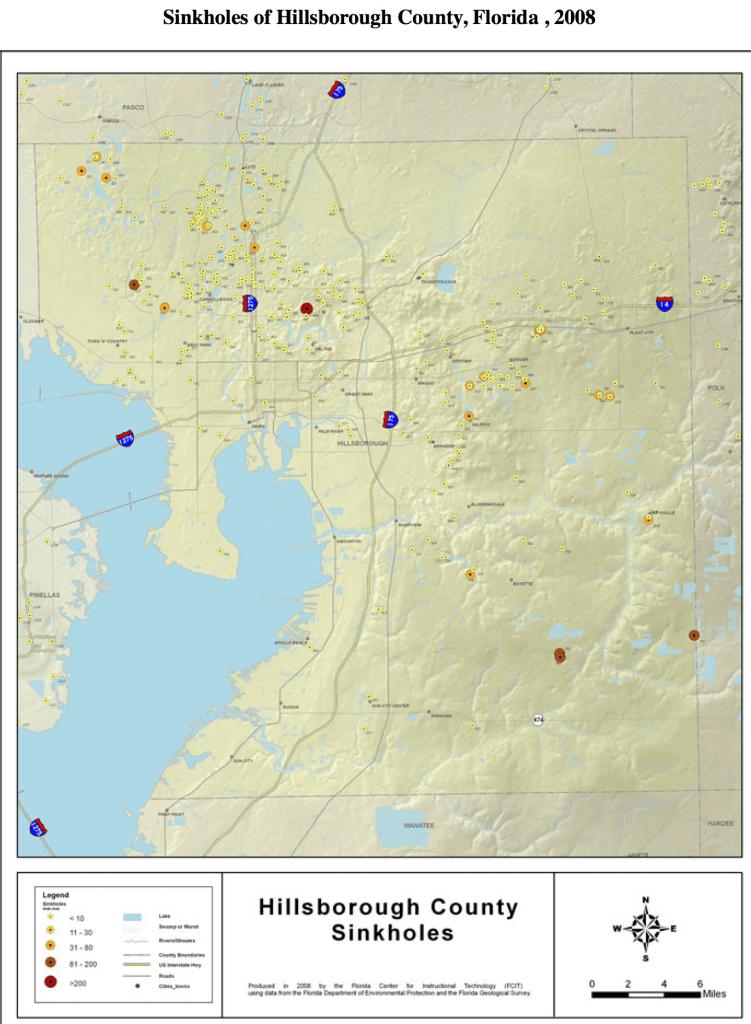 hillsborough florida sinkhole map
