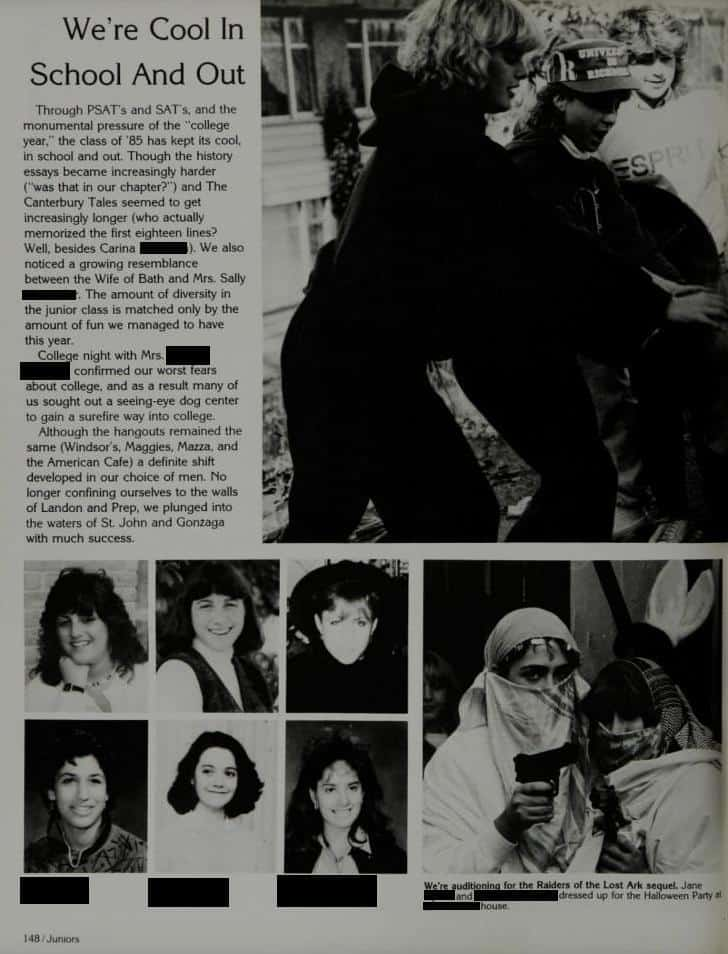 CHRISTINE BLASEY FORD yearbook