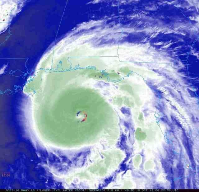 hurricane michael hot towers