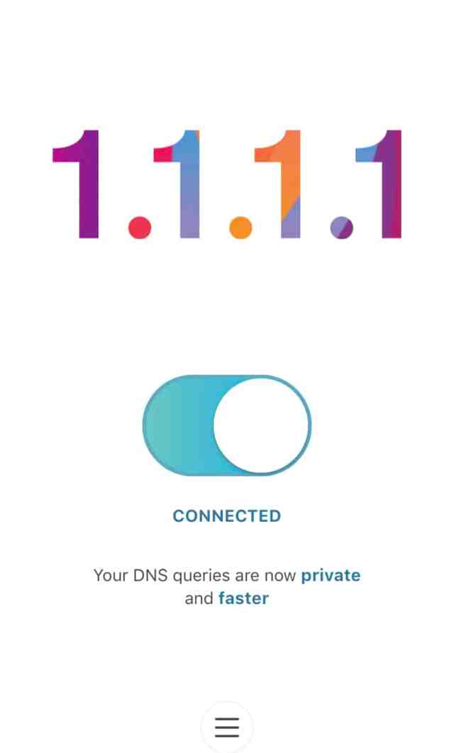 cloudflare 1.1.1.1 iphone