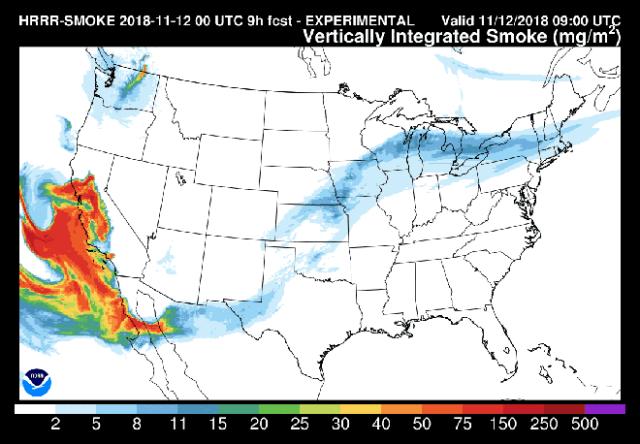 california fires smoke