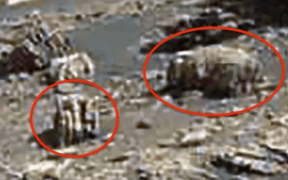 alien artifacts on mars shown