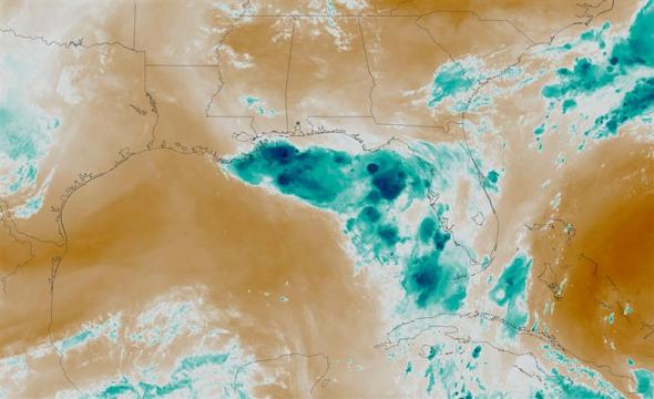 hurricane barry water vapor