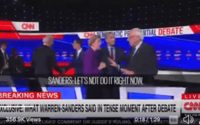 sanders warren fight