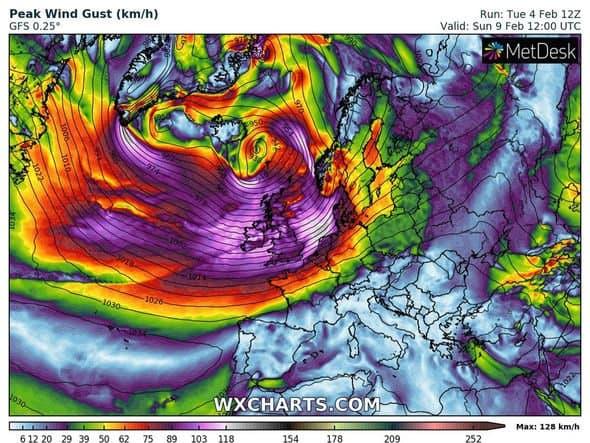storm ciara forecast potential