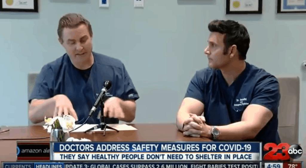 kern county california doctors coronavirus shutdown