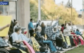nursing home covid protest