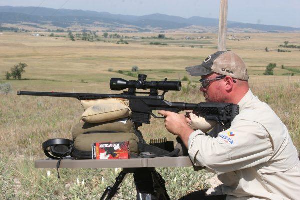 Savage 6.5 Creedmoor mounting a Bushnell long range