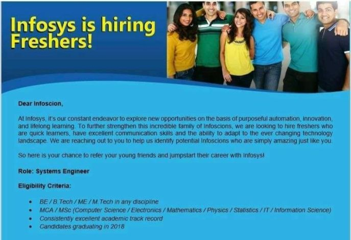 referral drive for infosys how to