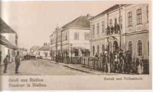Prva fotografija Konaka i Komunalne skole oko 1890