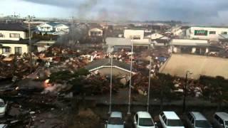 【311の記録】多賀城の4階駐車場からの津波映像・いたか?