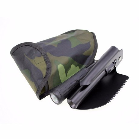 Mini Multifunction Folding Shovel, Hoe, Pick Axe & Saw
