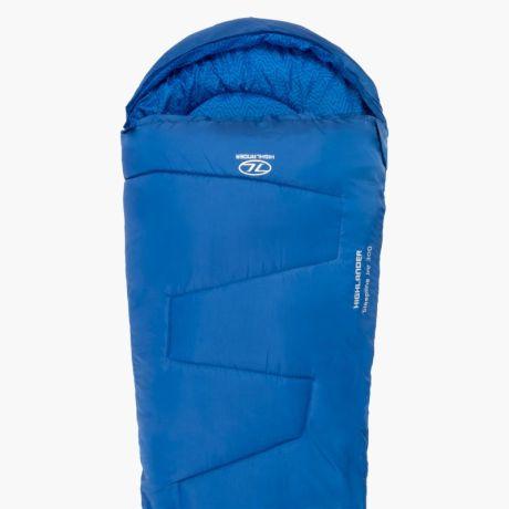 HIGHLANDER-SLEEPLINE-JNR-MUMMY-SLEEPING-BAG-BLUE-1