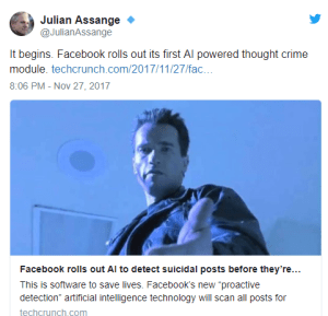 """Facebook Announces It Will Use A.I. To Scan Your Thoughts """"To Enhance User Safety"""""""