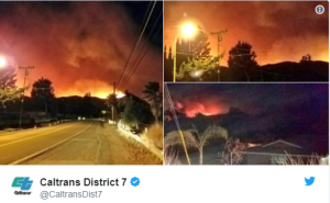 """Southern California fires """"incredibly fast-moving"""", thousands forced to flee"""