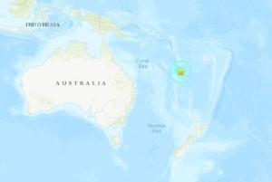 7.6-magnitude earthquake strikes near Caledonia in Pacific; no tsunami threat