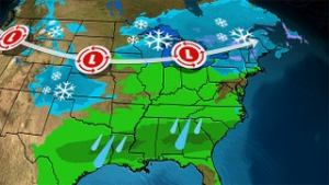 Midwest and Northeast to See Some Snow, But Rain For Many Others, Through Tuesday