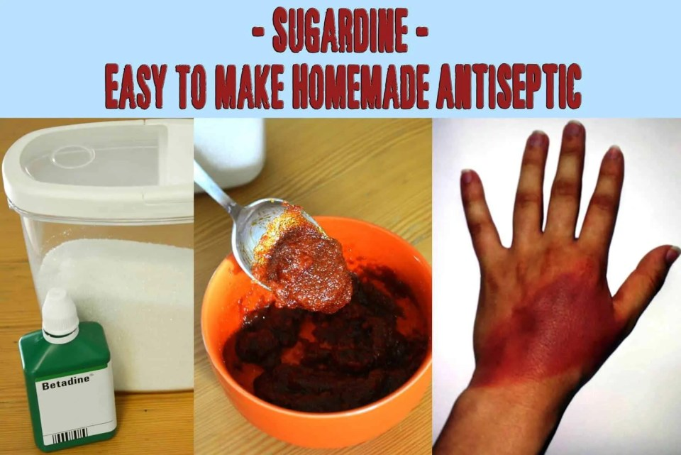 Prepper's Will - Sugardine A Homemade Antiseptic