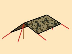 Prepper's Will - Dining Fly tarp shelter