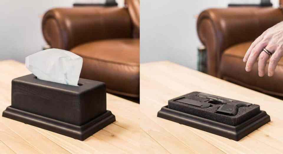 Hide your guns - tissue box