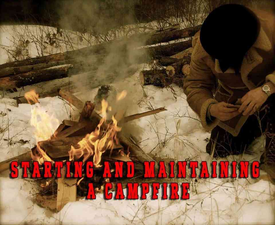 The basics of starting and maintaining a campfire