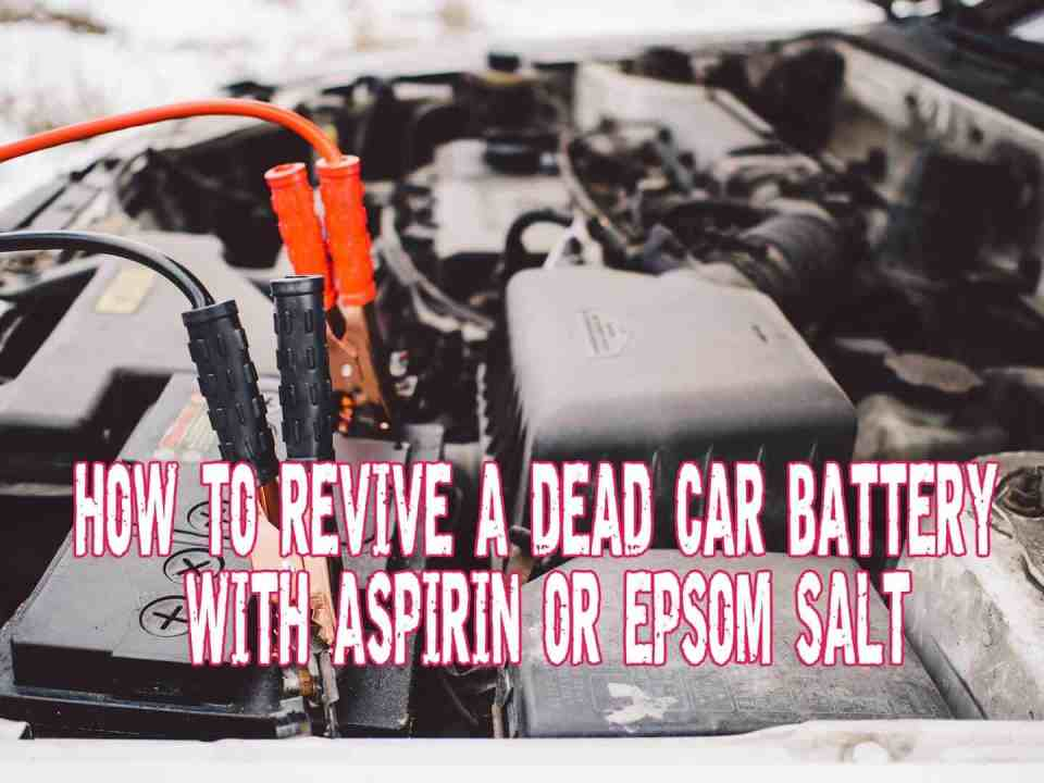 How To Revive A Dead Car Battery With Aspirin Or Epsom Salt